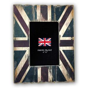 Cornice Union Jack Wood 6x4 Photo Frame