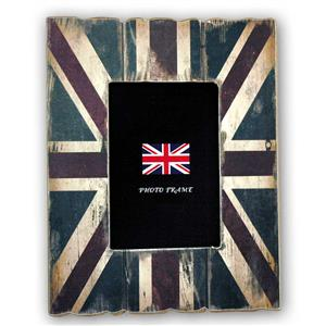 Cornice Union Jack Wood 7x5 Photo Frame