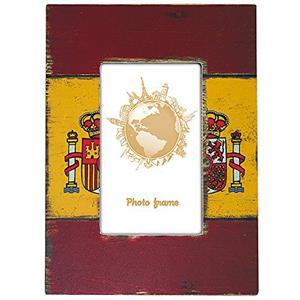 Flag of Spain Wooden 6x4 Photo Frame