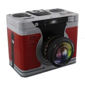 3D Metal Storage Tin - Camera Design - 15 x 19 x 15 cm