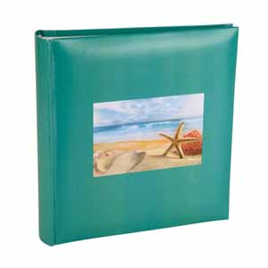 Holiday Shell Design Aqua Slip In 6x4 Photo Album - 200 Photos