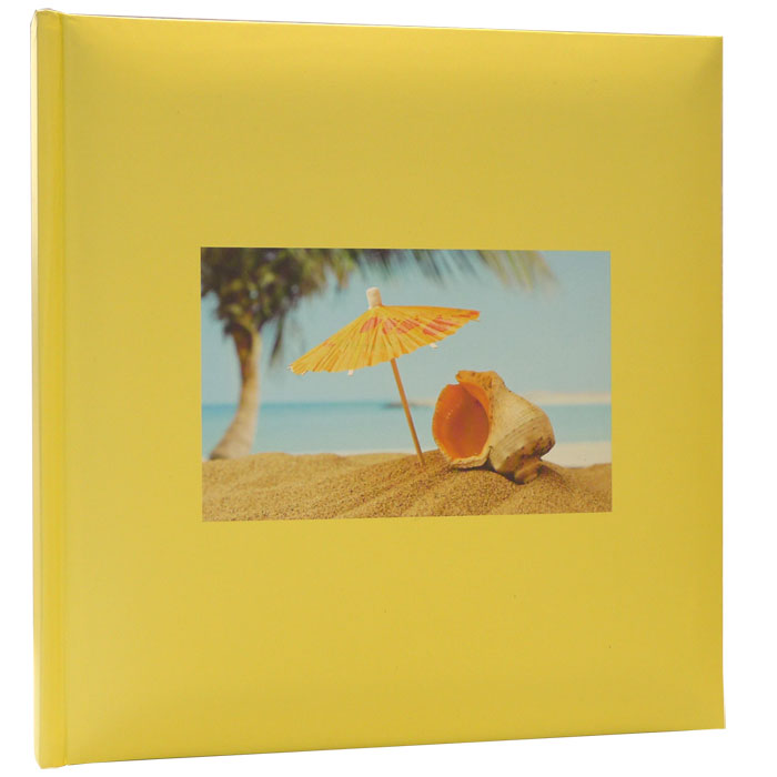 Holiday Shell Design Yellow Slip In 6x4 Photo Album - 200 Photos