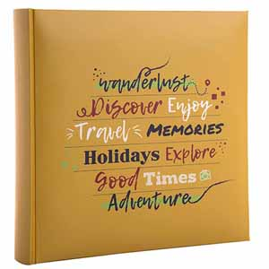 Holiday Wanderlust Slip In 6x4 Photo Album - 200 Photos Overall Size 8.5