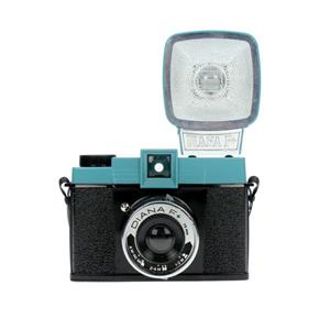 Lomography Diana F+ Black and Blue Medium Format Camera with Flash