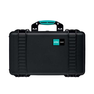 HPRC 2550W Wheeled Hard Resin Case with Second Skin - Black/Turquoise