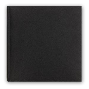 Berlin Cotton Black Traditional Photo Album - 60 Sides Overall Size 12.75x12 Inches