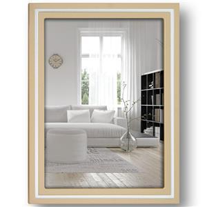 Paros Beige Wood 8x6 Photo Frame