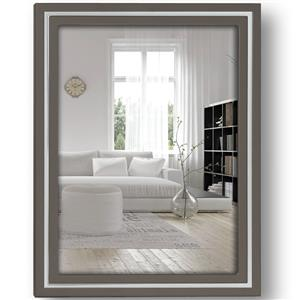 Paros Grey Wood 8x6 Photo Frame