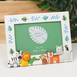 Jungle Baby 3D Animal Characters Photo Frame - 6x4 inch