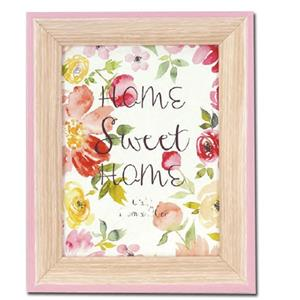 Spring Pink Wood 7.5x5.5 Photo Frame