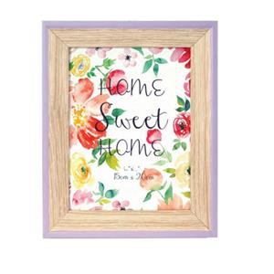 Spring Violet Wood 7.5x5.5 Photo Frame