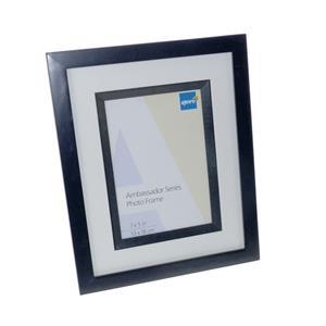 Ambassador Black Wood 7x5 Photo Frame Bevel Mat and Matching Wood Inlay