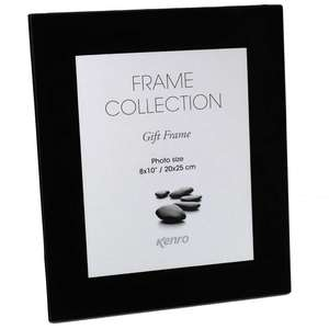 Black Glass 10x8 Photo Frame