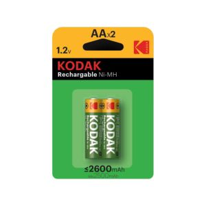 Kodak Ni-MH AA Rechargeable Batteries | 2 Pack