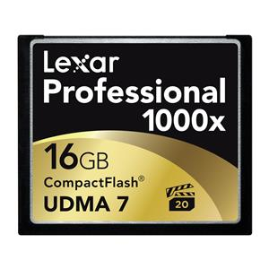 Lexar 16GB Professional UDMA 7 CompactFlash 1000x Memory Card