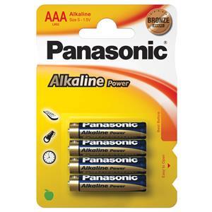 Panasonic AAA Alkaline Power Batteries - Pack of 4