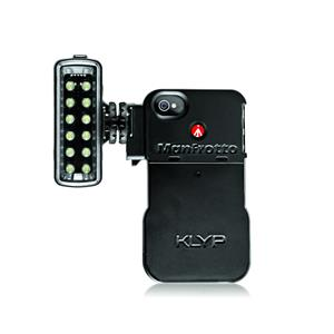Manfrotto KLYP iPhone 4/4S Case and 12 LED Light Includes Adaptors