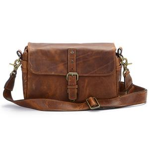ONA Bowery Antique Cognac Small Leather Shoulder Bag