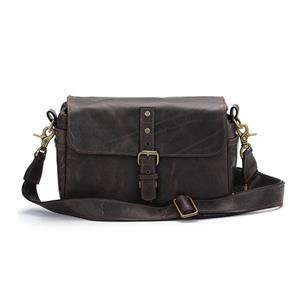 ONA Bowery Dark Truffle Small Leather Shoulder Bag
