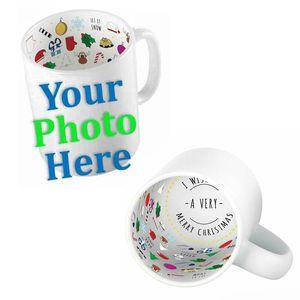 Personalised Christmas Photo Mug 11oz - Add your Photo or Text