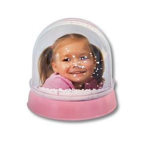 Musical Baby Pink Photo Globe