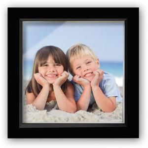 Wooden Black 6x6 Box Photo Frame