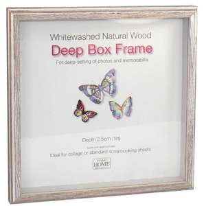 Driftwood 8x8 Inch Box Frame Natural Finish