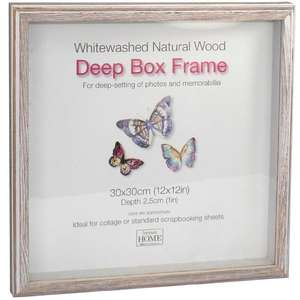 Driftwood 12x12 Inch Box Frame Natural Finish