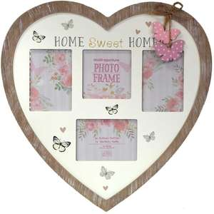 Home Sweet Home Multi Aperture Photo Frame for 4 Photos Mixed Sizes