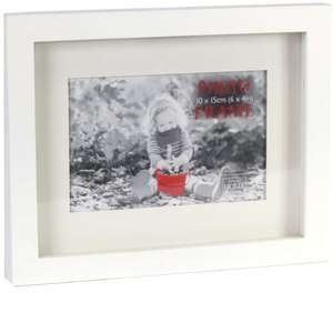 Hearts Box Style Photo Frame for 6x4 Inch Photo