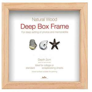 Wooden Photo Frame Takes 3x3 Inch Photo Box Frame