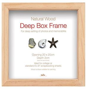 Wooden Natural 12x12 Box Photo Frame