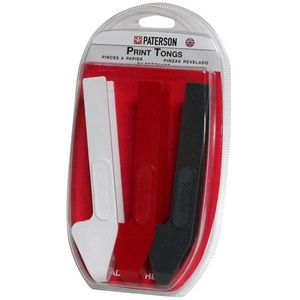 Paterson Print Tongs - Red, Grey and White - Set of 3