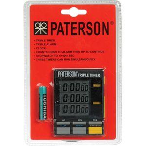 Paterson Triple Darkroom Timer Alarm Stopwatch