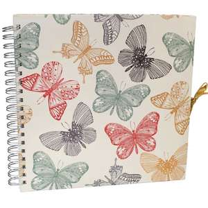 Butterflies Scrapbook Photo Album | 25 Pages | 25 Sides | 10 x10.5 Inches