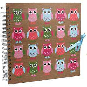 Owl Scrap Book Photo Album | 25 Pages | 50 Sides | 10 x10 Inch Page Size