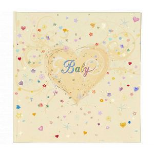 Cream Baby Traditional Photo Album - 60 Sides