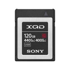 Sony G Series 120GB XQD Memory Card | Read 440 MB/s | Write 400MB/s | 4K Video