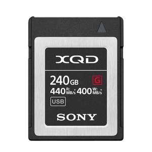 Sony G Series 240GB XQD Memory Card | Read 440MB/s | Write 400MB/s | 4K Video
