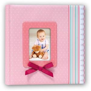 Pink Ribbon Traditional Photo Album - 60 Sides