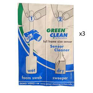 Green Clean Full 35mm-Size Sensor Wet & Dry Swabs 3 pcs