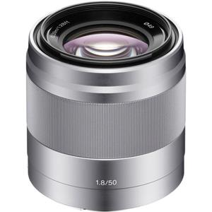 Sony E 50mm F1.8 OSS Silver Lens