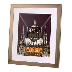Kenro Senator Wood 16x12 Inch Steel Finish Photo Frame with 10x12 inch Insert