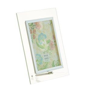 Sixtrees Flat Bevelled Glass Silver 6x4 Photo Frame Vertical