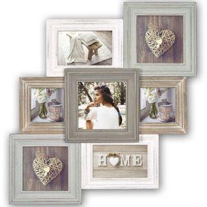 Airolo Wood Multi Aperture Photo Frame Overall Size 19.75x 20.75 Inches