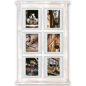 Hampton Window Style Floating White Multi Photo Frame Overall Size 26.5x17 Inches