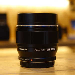Used Olympus 75mm f1.8 ED M.ZUIKO Black Micro Four Thirds Lens