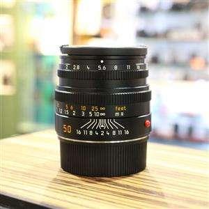 Used Leica M 50mm F2 Summicron 6 Bit Black Lens 11826