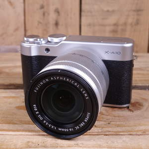 Used Fujifilm X-A10 Silver Camera with 16-50mm OIS II Lens