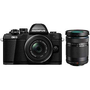 Olympus OM-D E-M10 Mark II Black Digital Camera with 14-42mm and 40-150mm Lens
